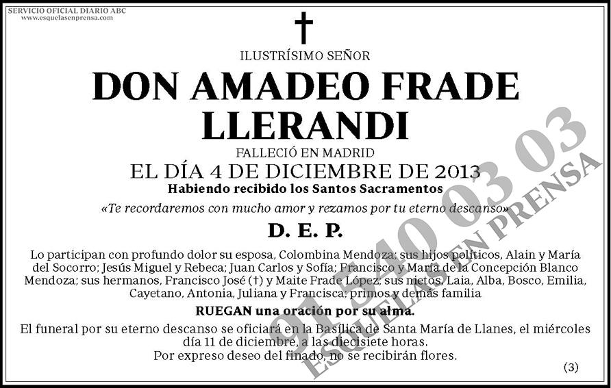 Amadeo Frade Llerandi